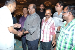 AVM Saravanan, Rajni at Jyothi Krishna Aishwarya Wedding Reception Stills