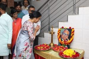 Suhasini @ K Balachander 88th Birthday Celebrations Stills