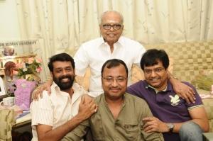 Vasanth, Saran, Vivek @ K Balachander Birthday Celebration Stills