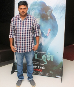 Director Prabhu Solomon @ Kaadan Movie Trailer Launch Stills