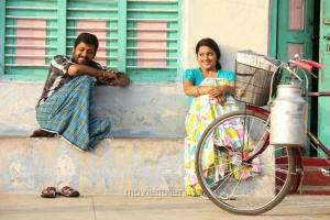 Vidharth, Samskruthy in Kaadu Tamil Movie Stills