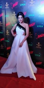 Actress Sakshi Agarwal @ Kaala Audio Launch Red Carpet Pics