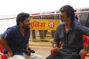 Pa Ranjith, Rajinikanth @ Kaala Movie Working Stills