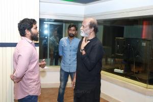 Kaala Rajinikanth Dubbing @ Knack Studios Photos