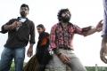 Sri Prawin, Chaitanya Krishna in Kaali Charan Telugu Movie Working Stills