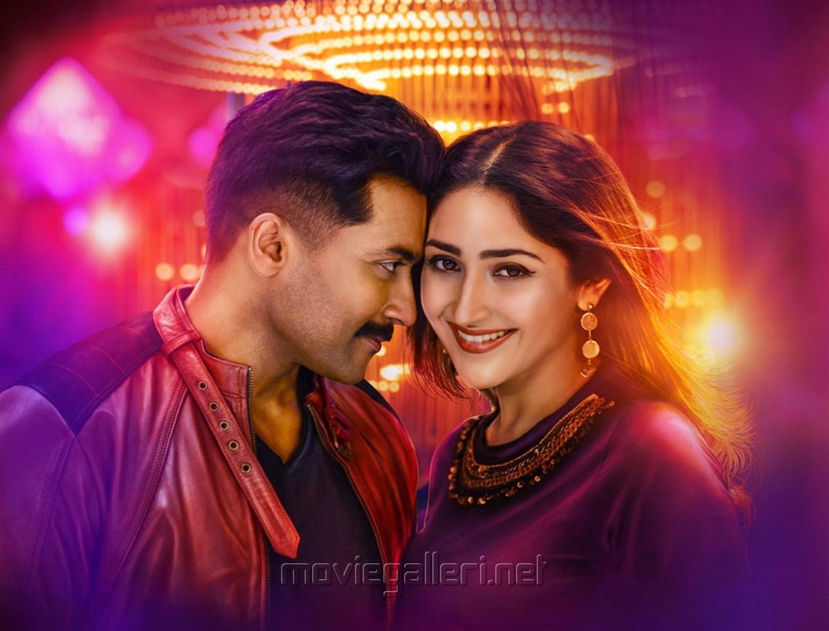 Suriya, Sayyeshaa in Kaappaan Movie HD Stills