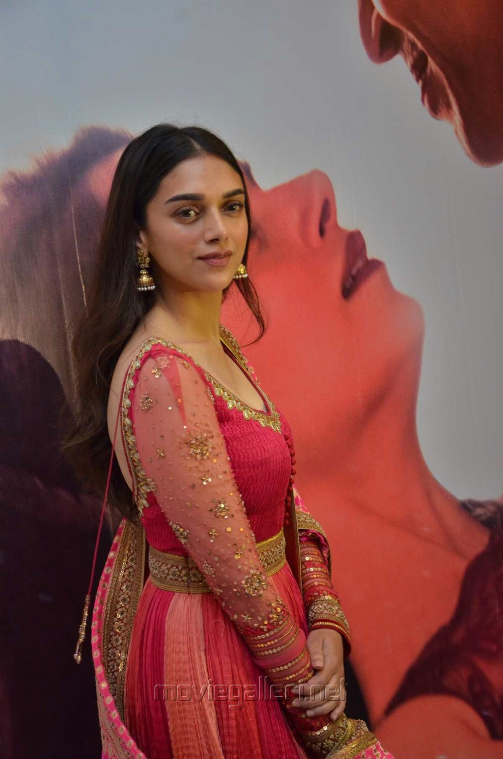Actress Aditi Rao Hydari @ Kaatru Veliyidai Audio Launch Stills