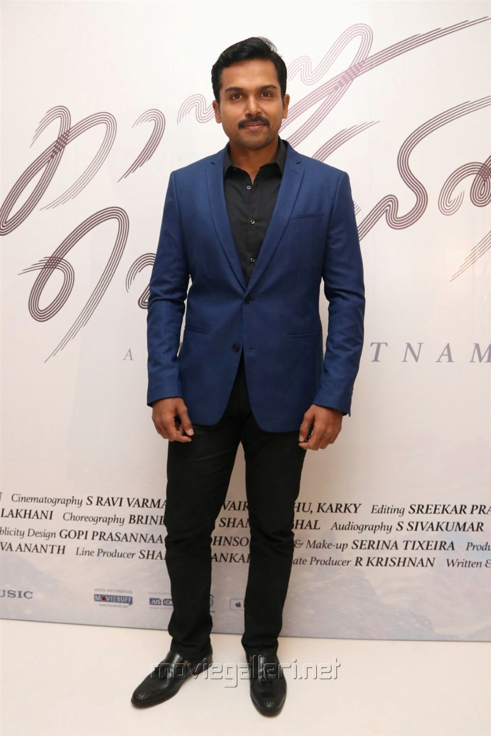 Actor Karthi @ Kaatru Veliyidai Audio Launch Stills