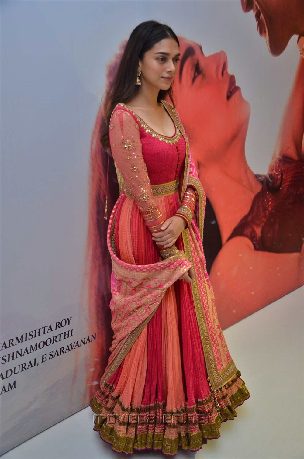 Actress Aditi Rao Hydari @ Kaatru Veliyidai Audio Launch Stills
