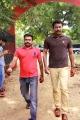 VR Nagendran, Samuthirakani @ Kaaval Movie Shooting Spot Stills