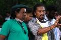 NK Ekambaram, Stunt Silva @ Kaaval Movie Shooting Spot Stills