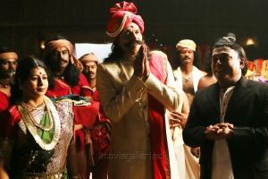 Babu Antony, Thambi Ramaiah in Kaaviya Thalaivan Movie Latest Photos
