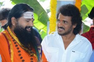 Dr. Maharshi Anand Guruji @ Upendra Kabza Movie Launch Stills