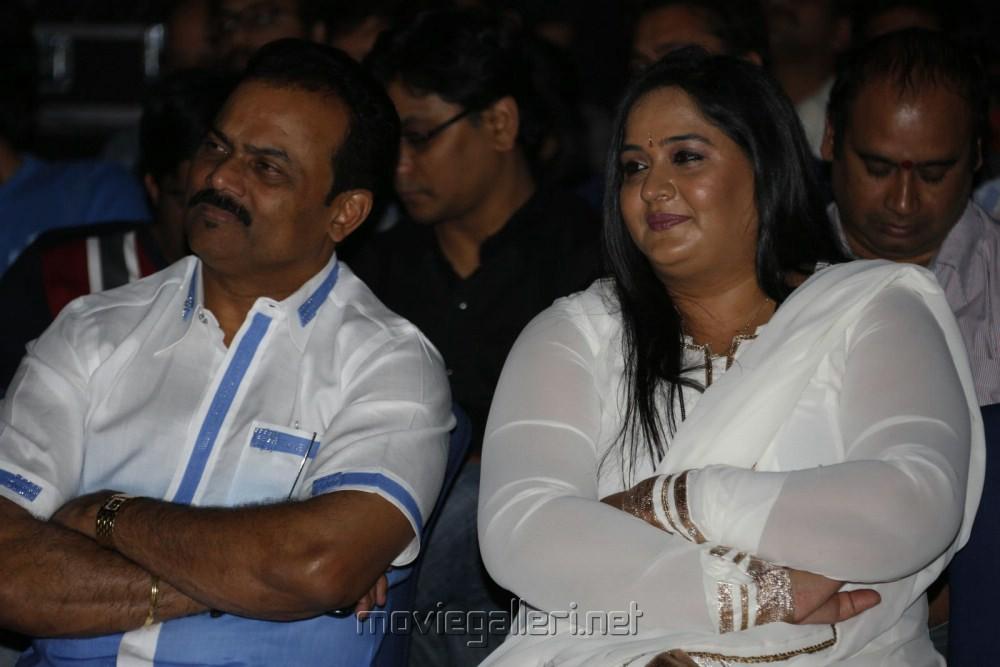 Actress Radha with Husband Rajasekaran Nair at Kadali Movie Audio Launch Stills