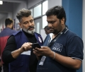 Vikram, Rajesh Selva @ Kadaram Kondan Movie Working Stills HD