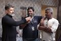 Vikram, Rajesh Selva, Srinivas R Gutha @ Kadaram Kondan Movie Working Stills HD