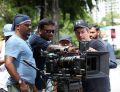 Srinivas R Gutha,, Rajesh Selva @ Kadaram Kondan Movie Working Stills HD