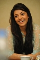 Actress Kajal Agarwal Cute Smile Photos at Sarocharu Movie Interview