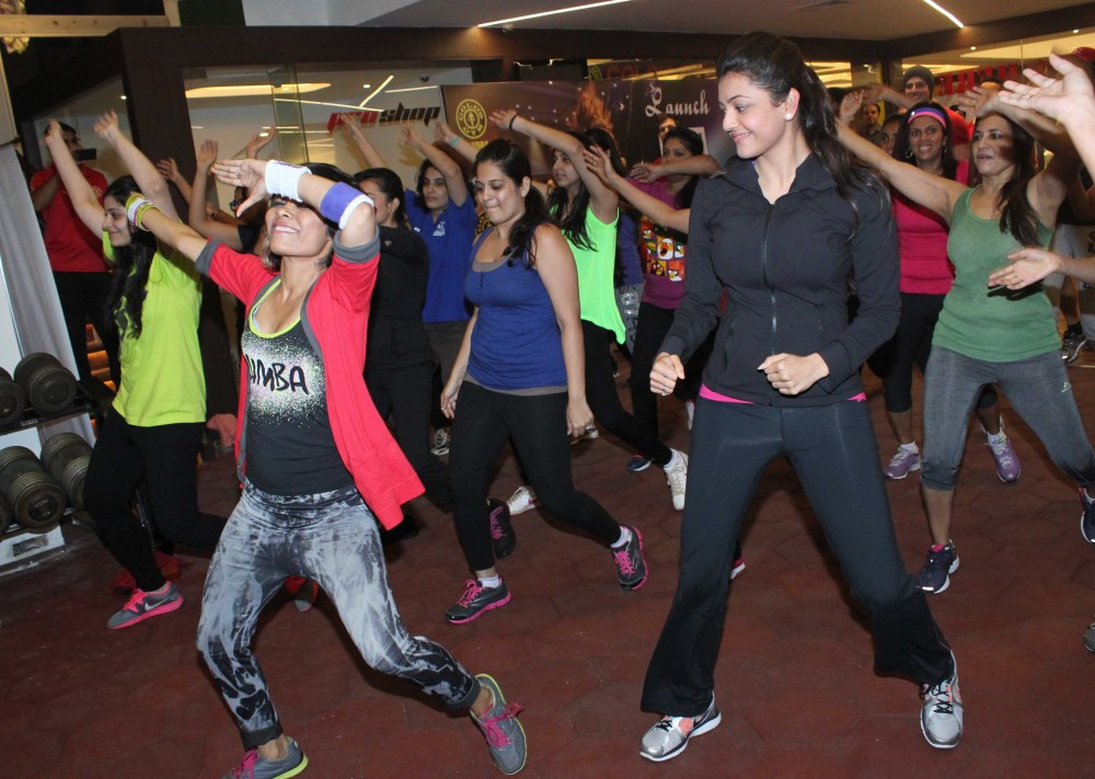 Picture kajal agarwal at zumba fitness gold gym