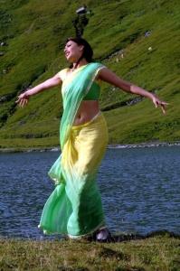 Kajal Agarwal Hot saree stills from Thuppakki