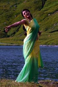 Kajal Agarwal Hot Saree Stills in Thuppaki Movie Vennilave Song