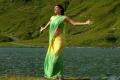 Kajal Agarwal Light Green Saree Hot Stills in Thuppaki Movie