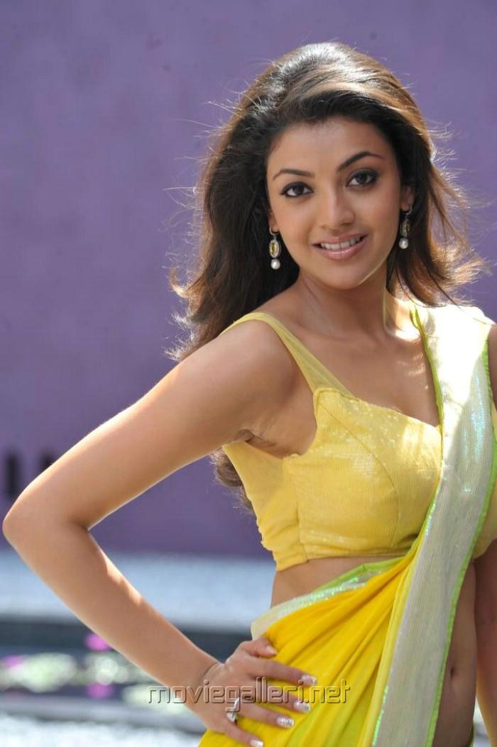 Telugu Actress Kajal Agarwal Hot Spicy Exposing Yellow ...
