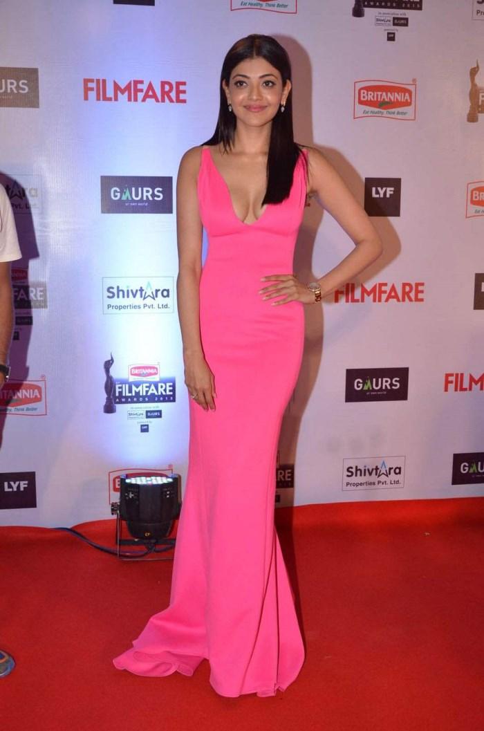 Kajal Agarwal Hot Stills @ 61st Britannia Filmfare Awards 2015