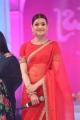 Telugu Actress Kajal Agarwal Red Saree Photos