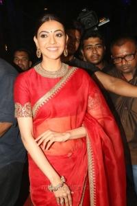 Actress Kajal Agarwal in Red Saree Photos