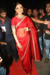 Actress Kajal Aggarwal in Red Saree Photos