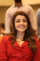 Actress Kajal Aggarwal in Red Trouser Suit Photos