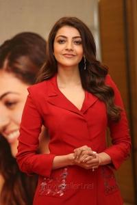 Telugu Actress Kajal Agarwal in Red Suit Photos