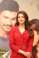 Actress Kajal Aggarwal in Red Suit Photos @ Kavacham Teaser Launch