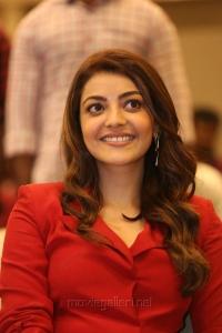 Kavacham Movie Actress Kajal Agarwal in Red Suit Photos