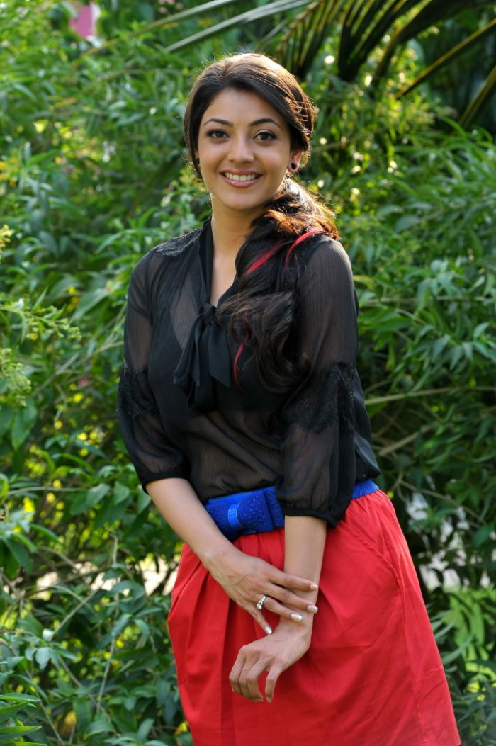 Kajal Agarwal Spicy Hot Pics in Transparent Black Dress