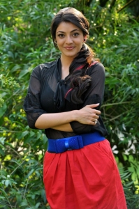 Actress Kajal Agarwal Hot Pics in Transparent Black Dress
