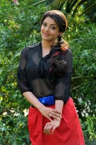 Actress Kajal Agarwal Hot Pics in Black Dress