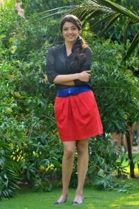 Kajal Agarwal Hot in Black Transparent Dress & Red Skirt