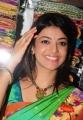 Kajal Agarwal Silk Saree Stills at Kalanikethan Showroom