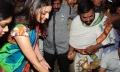 Kajal Agarwal in Saree at Kalanikethan Showroom launch