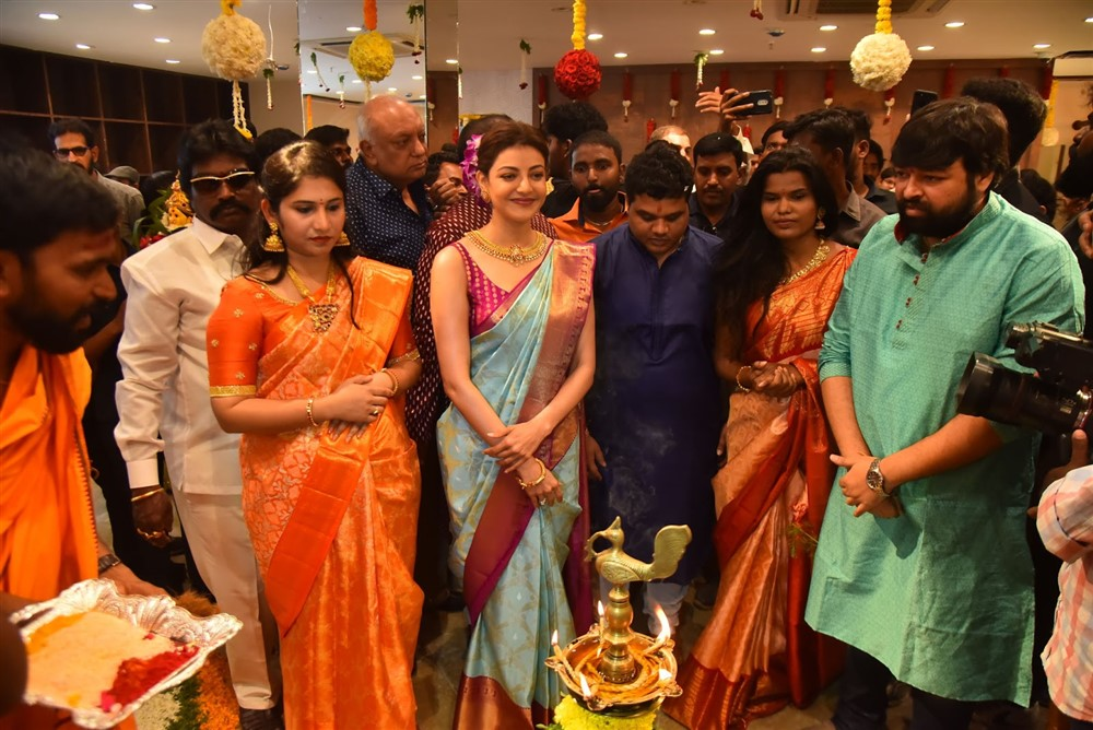 Actress Kajal Agarwal launches Vidhatri Shopping Mall at Vijayawada Photos
