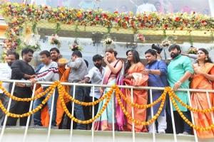 Actress Kajal Agarwal launches Vidhatri Shopping Mall at Vijayawada Photos