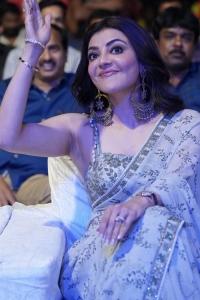 Actress Kajal Agarwal New Saree Photos @ Mosagallu Movie Pre Release
