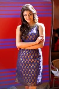 Actress Kajal Agarwal in Sleeveless Gown