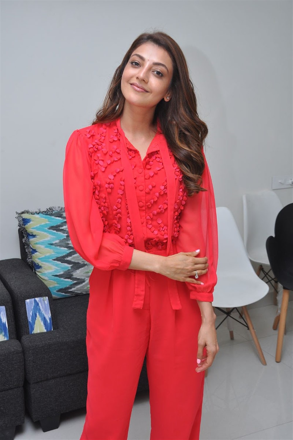 Actress Kajal Aggarwal New Pics @ Manu Charitra Movie Launch