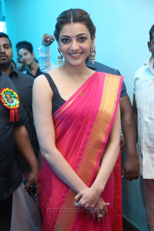 Actress Kajal Agarwal New Stills @ Nene Raju Nene Mantri Pre Release Function