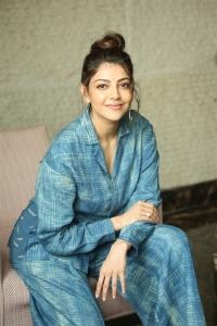 Actress Kajal Photos @ Ranarangam Movie Interview