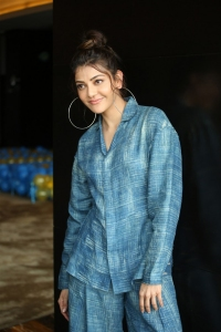 Heroine Kajal Photos @ Ranarangam Movie Interview