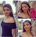 Actress Kajal Agarwal Stills @ Thalapathy 61 Shooting